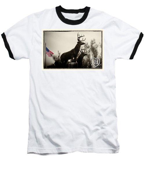 Boldt Castle Deer Baseball T-Shirt