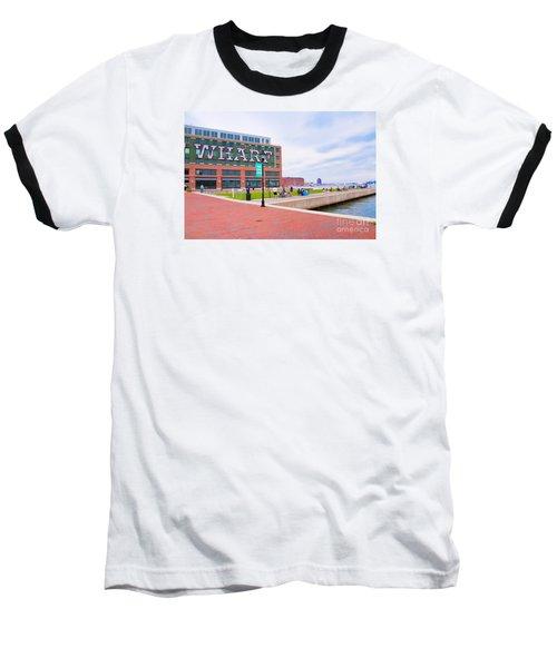 Bond Street Landing Baltimore Maryland Baseball T-Shirt by Vizual Studio