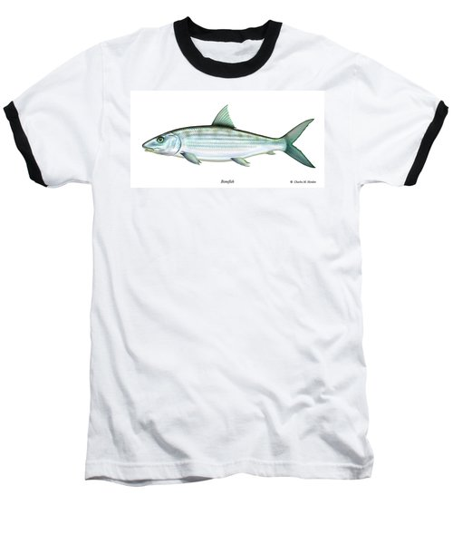 Bonefish Baseball T-Shirt by Charles Harden