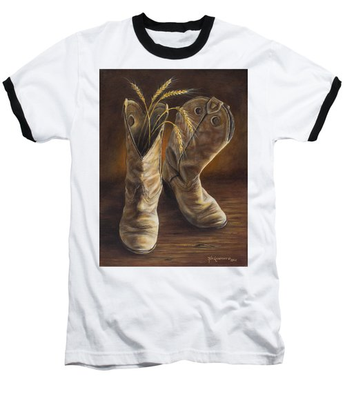 Boots And Wheat Baseball T-Shirt