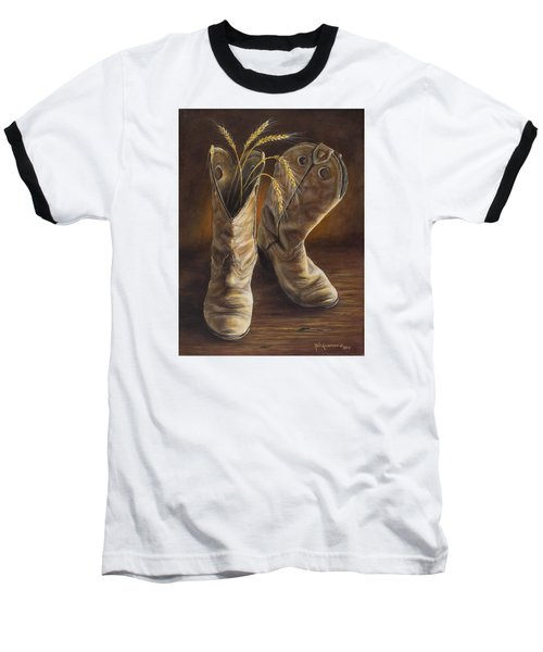 Boots And Wheat Baseball T-Shirt