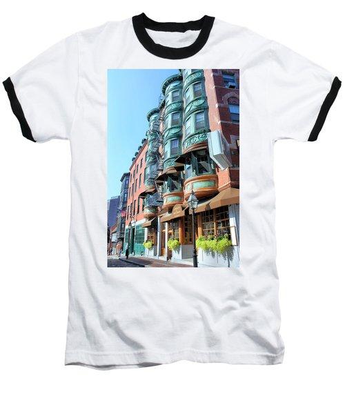 Boston Ma Baseball T-Shirt by Kristin Elmquist