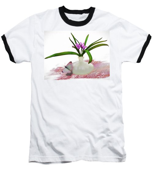 Bouque In Digital Watercolor Baseball T-Shirt