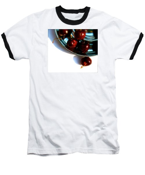 Bowl Of Cherries Baseball T-Shirt by Tracy Male