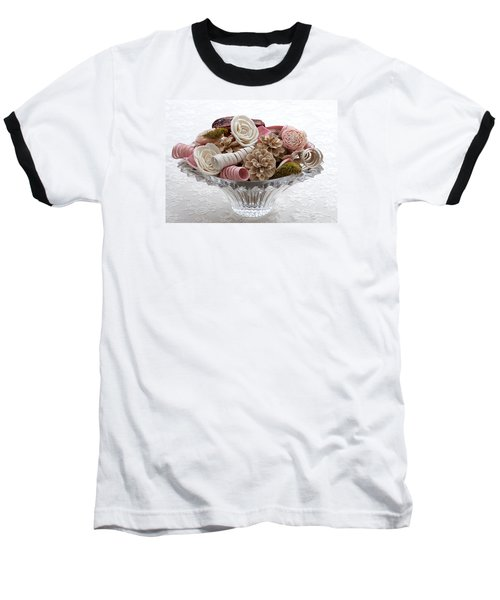 Bowl Of Potpourri On Lace Baseball T-Shirt