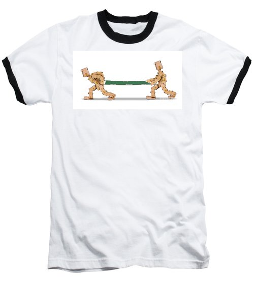 Box Characters Carrying A Stretcher Isolated Baseball T-Shirt