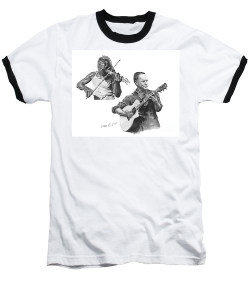 Baseball T-Shirt featuring the drawing Boyd And Dave by Marianne NANA Betts