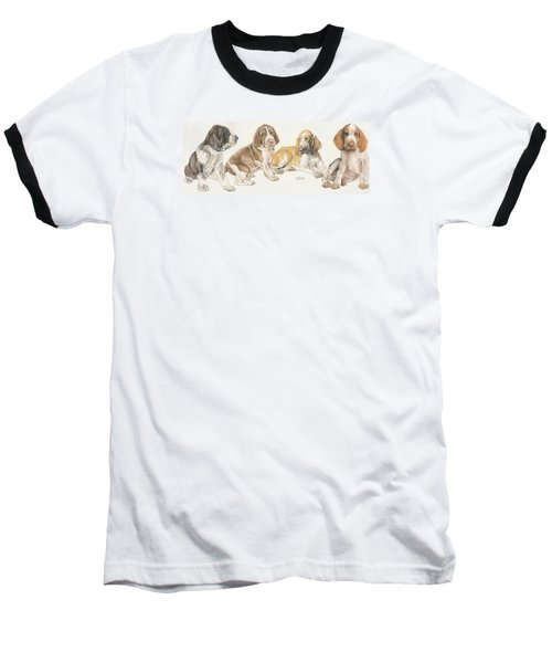 Bracco Italiano Puppies Baseball T-Shirt
