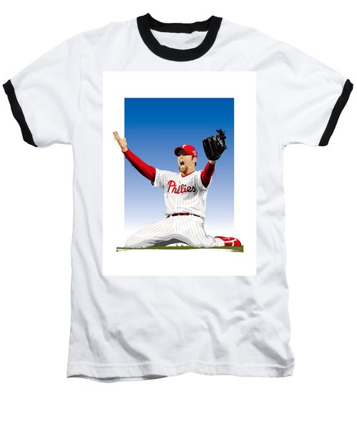 Brad Lidge Champion Baseball T-Shirt by Scott Weigner