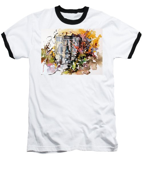 Baseball T-Shirt featuring the painting Brambles by Rae Andrews