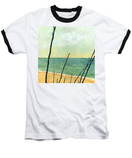 Branches On The Beach - Oil Baseball T-Shirt