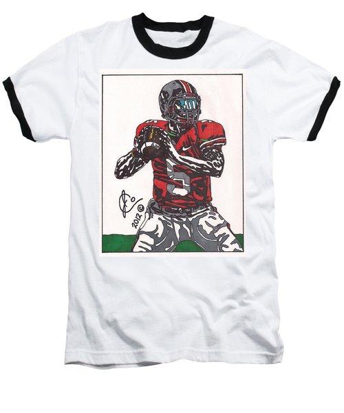 Braxton Miller 1 Baseball T-Shirt by Jeremiah Colley