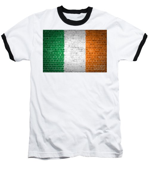 Brick Wall Ireland Baseball T-Shirt