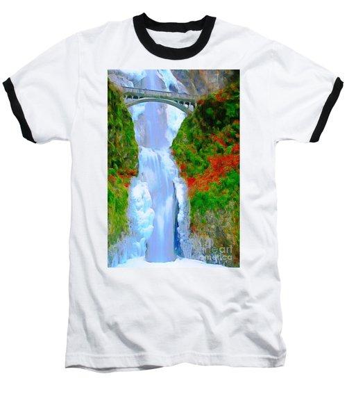 Bridge Over Beautiful Water Baseball T-Shirt by Catherine Lott