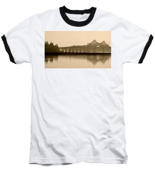 Bridge Reflection In Sepia Baseball T-Shirt