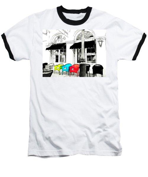 Bright Bistro Baseball T-Shirt by Kathy Bassett