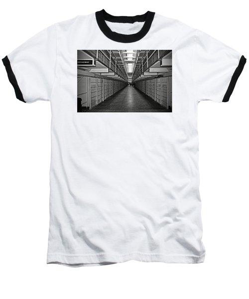 Broadway Walkway In Alcatraz Prison Baseball T-Shirt by RicardMN Photography