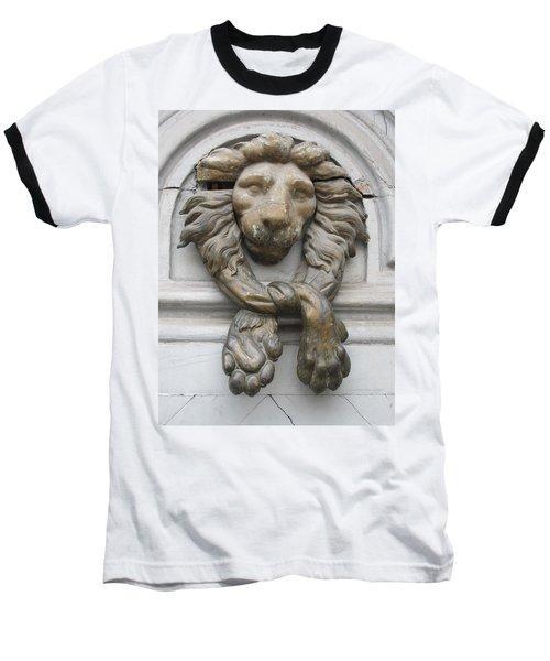 Baseball T-Shirt featuring the photograph Bronze Lion by Pema Hou