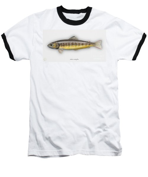 Brown Trout - Salmo Trutta Morpha Fario - Salmo Trutta Fario - Game Fish - Flyfishing Baseball T-Shirt