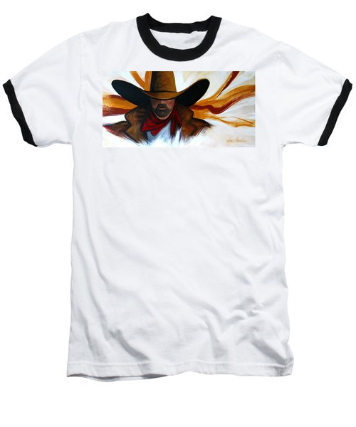 Baseball T-Shirt featuring the painting Brushstroke Cowboy #4 by Lance Headlee