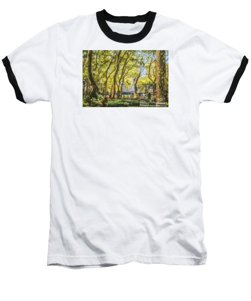 Bryant Park October Morning Baseball T-Shirt