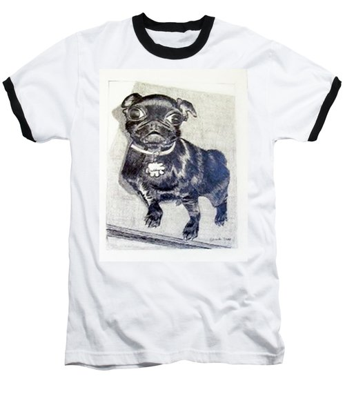 Baseball T-Shirt featuring the drawing Buddy by Jamie Frier
