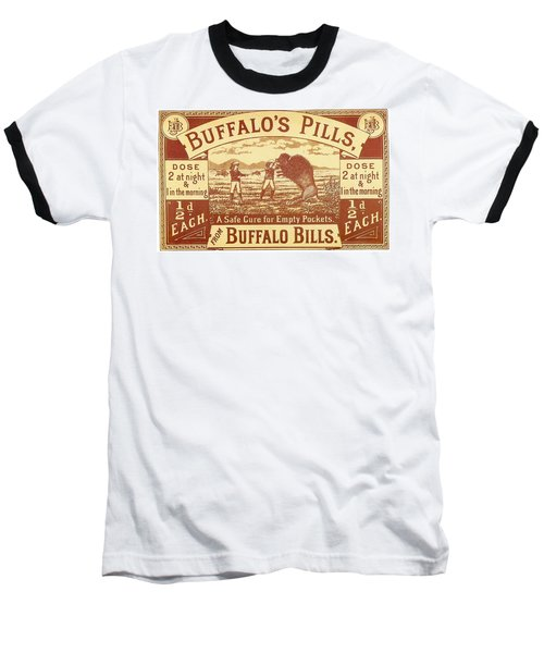 Baseball T-Shirt featuring the photograph Buffalo's Pills Vintage Ad by Gianfranco Weiss