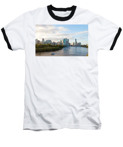 Buildings At The Waterfront, Brisbane Baseball T-Shirt