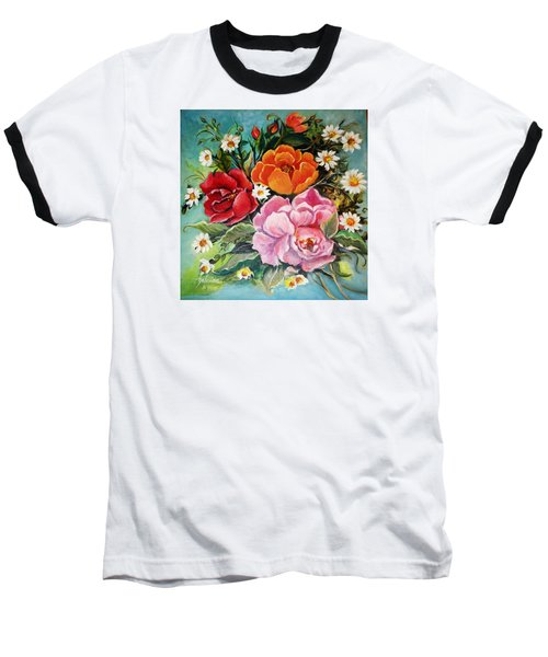Bunch Of Flowers Baseball T-Shirt by Yolanda Rodriguez