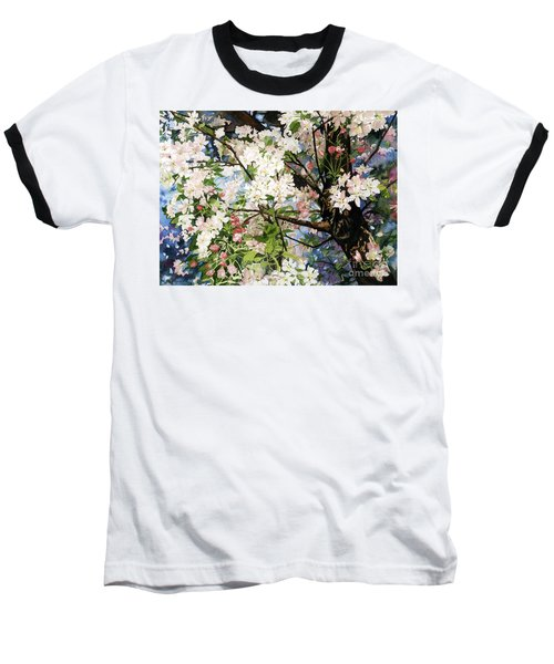 Burst Of Spring Baseball T-Shirt by Barbara Jewell