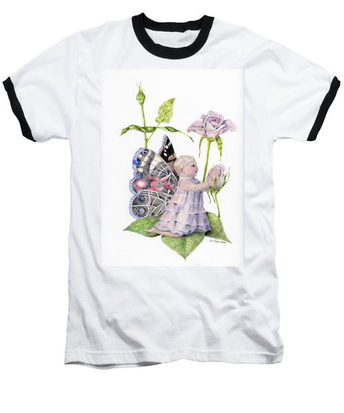 Baseball T-Shirt featuring the drawing Butterfly Baby by Laurianna Taylor