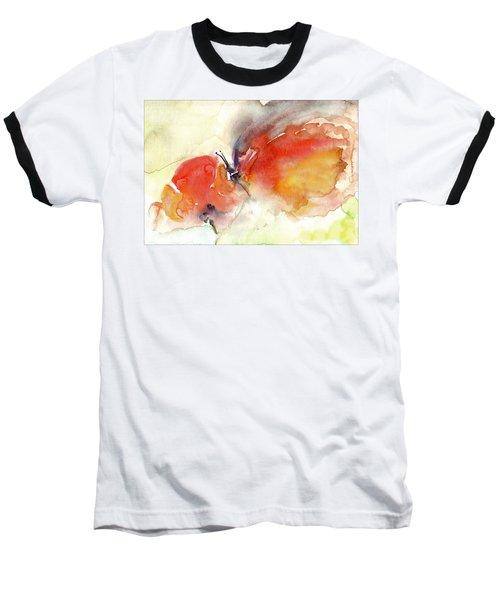 Baseball T-Shirt featuring the painting Butterfly by Faruk Koksal
