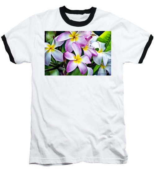 Baseball T-Shirt featuring the photograph Butterfly Flowers by Thomas Woolworth