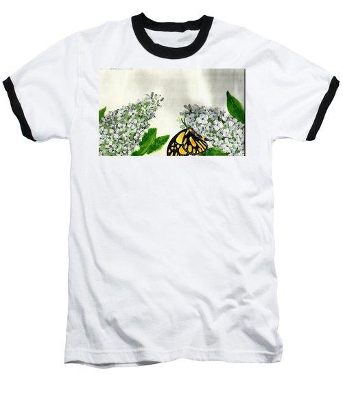 Butterfly Baseball T-Shirt by Francine Heykoop