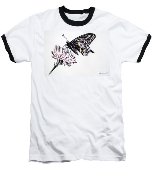 Butterfly Baseball T-Shirt by Katharina Filus