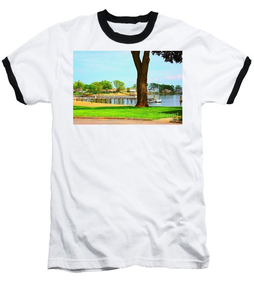 Baseball T-Shirt featuring the photograph By The Sea by Judy Palkimas
