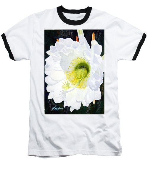Cactus Flower II Baseball T-Shirt by Mike Robles