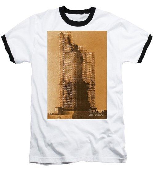 New York Lady Liberty Statue Of Liberty Caged Freedom Baseball T-Shirt