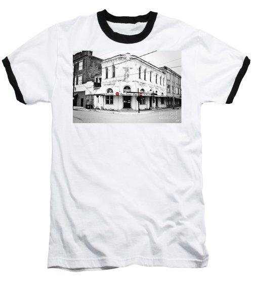 Cajun Corner Cafe Baseball T-Shirt by Scott Pellegrin