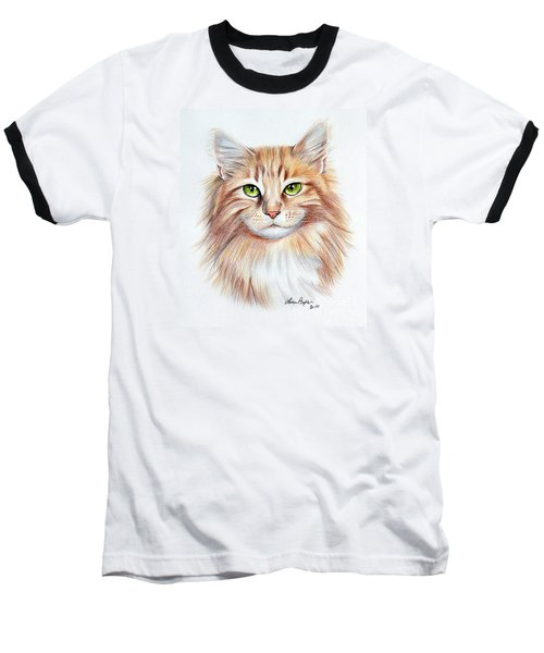 Calico Cat Baseball T-Shirt by Lena Auxier