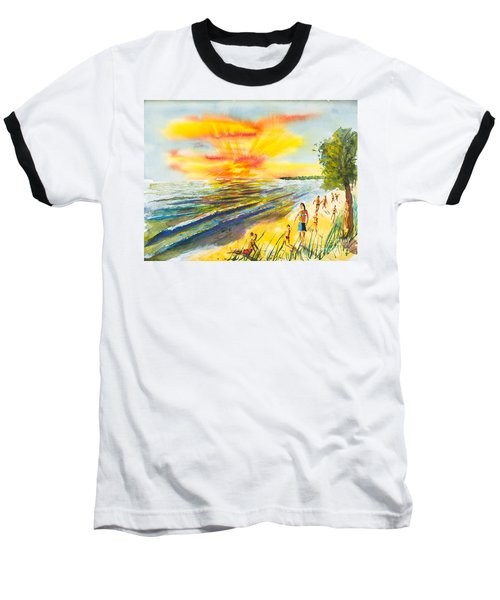 California Sunset Baseball T-Shirt