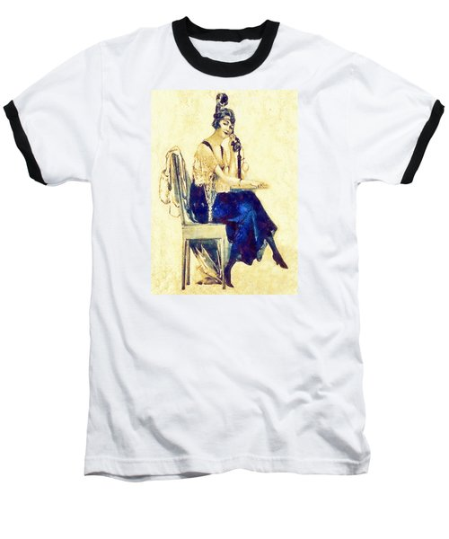 Baseball T-Shirt featuring the digital art Call Me by Charmaine Zoe