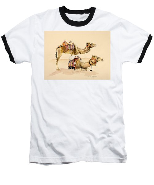 Camels From Petra Baseball T-Shirt