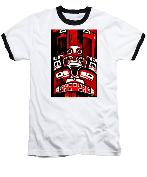 Canada - Inuit Village Totem Baseball T-Shirt