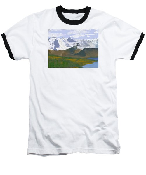 Baseball T-Shirt featuring the digital art Canadian Rockies by Terry Frederick