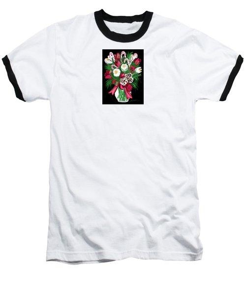 Candy Cane Bouquet Baseball T-Shirt