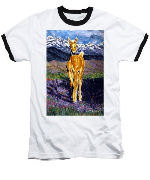 Candy Rocky Mountain Palomino Colt Baseball T-Shirt