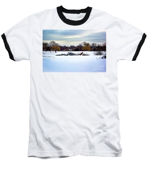 Canoes In The Snow Baseball T-Shirt