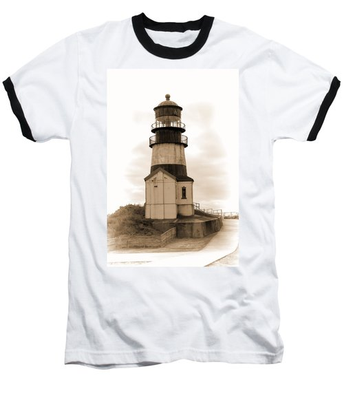 Cape Disappointment Lighthouse Baseball T-Shirt by Cathy Anderson