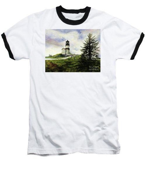 Cape Disappointment Lighthouse On The Washington Coast Baseball T-Shirt
